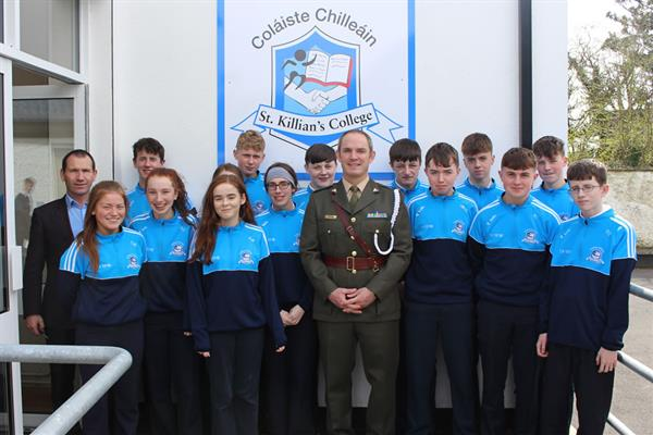 President Higgins, Aide-de-camp visits St. Killians