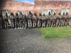 TY students paintballing experience